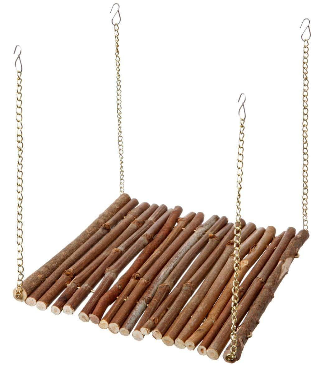 balançoire en bois hamster accessoire