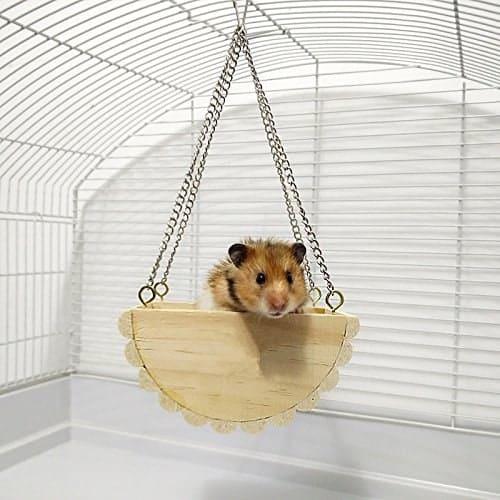balançoire en bois pour hamster jouet