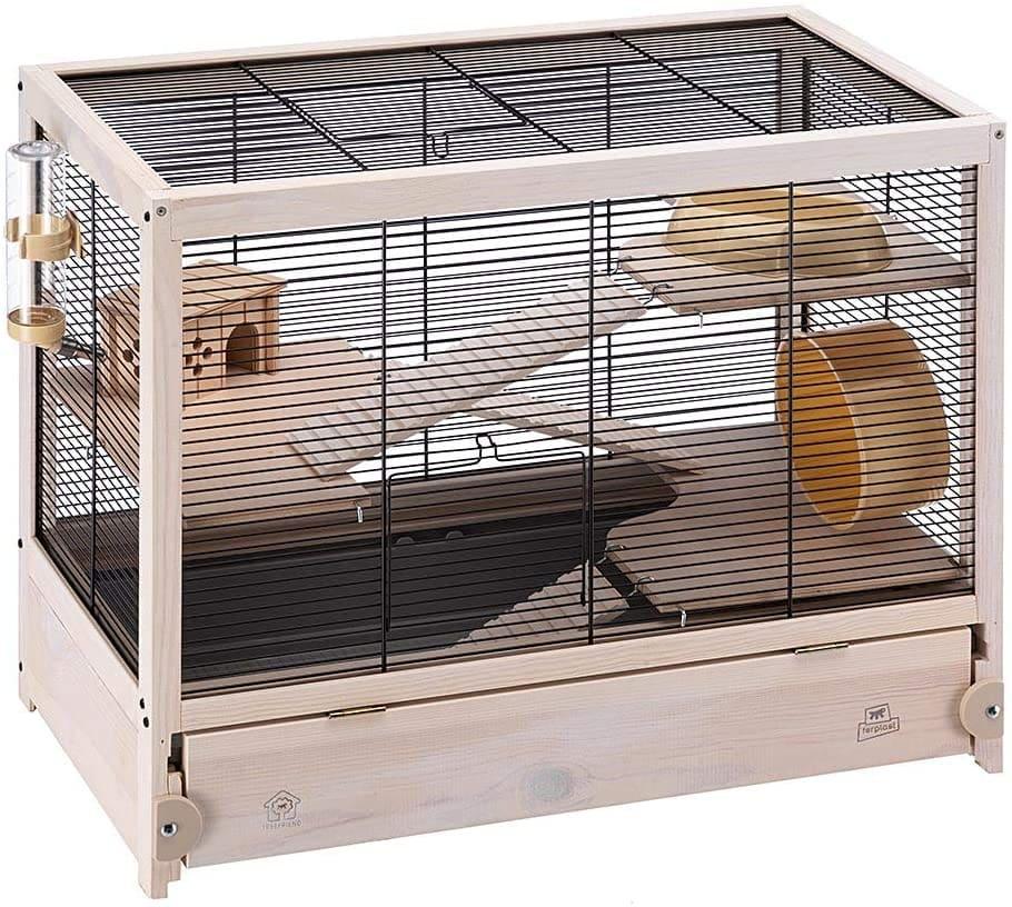 cage barreaux bois