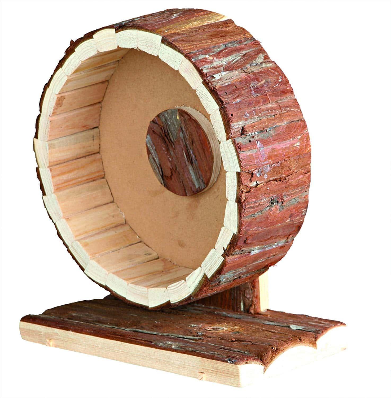roue bois hamster accessoire